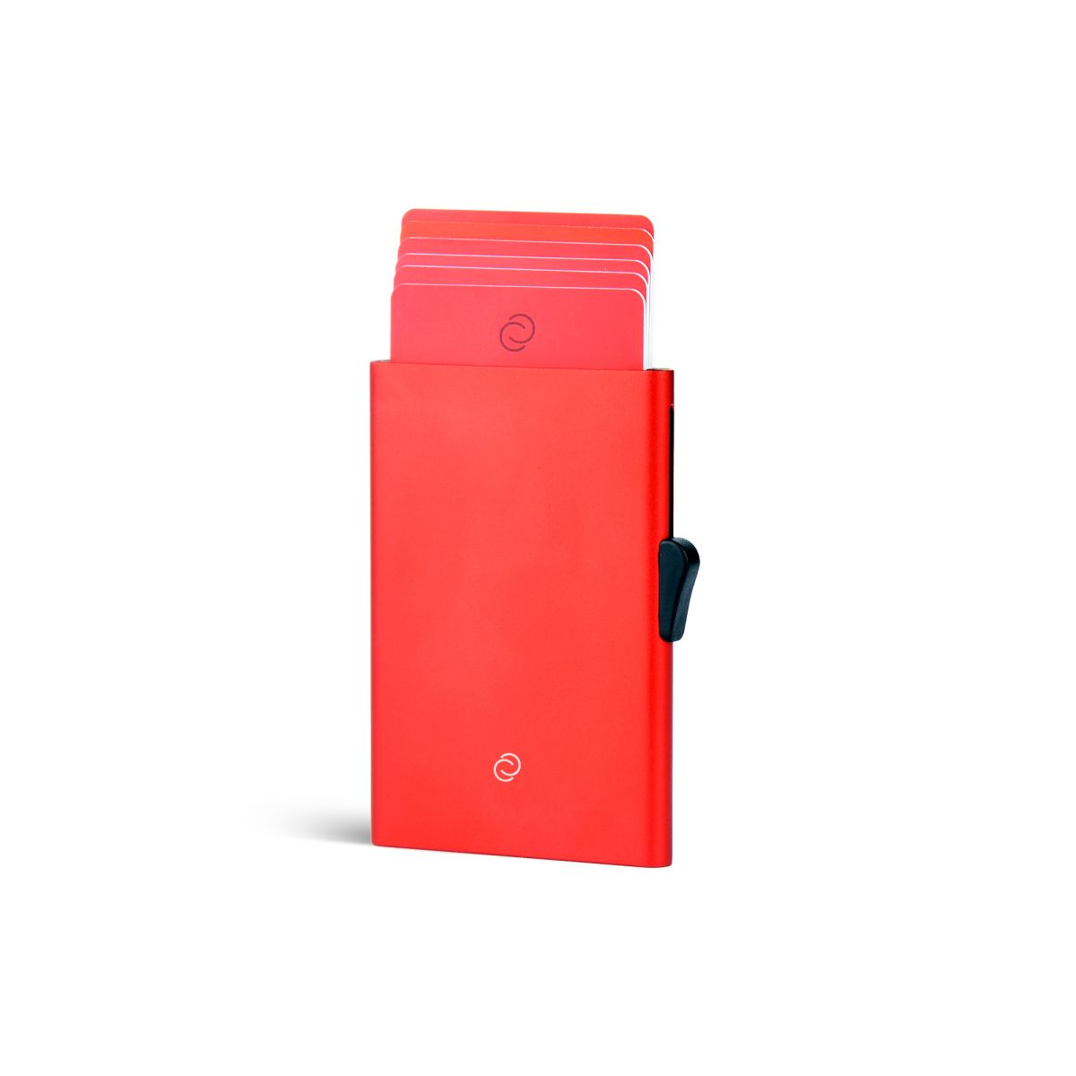 C-Secure Slim Aluminum Card Holder - Red