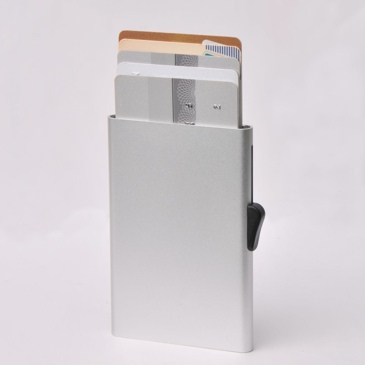 C-Secure Slim Aluminum Card Holder - Silver