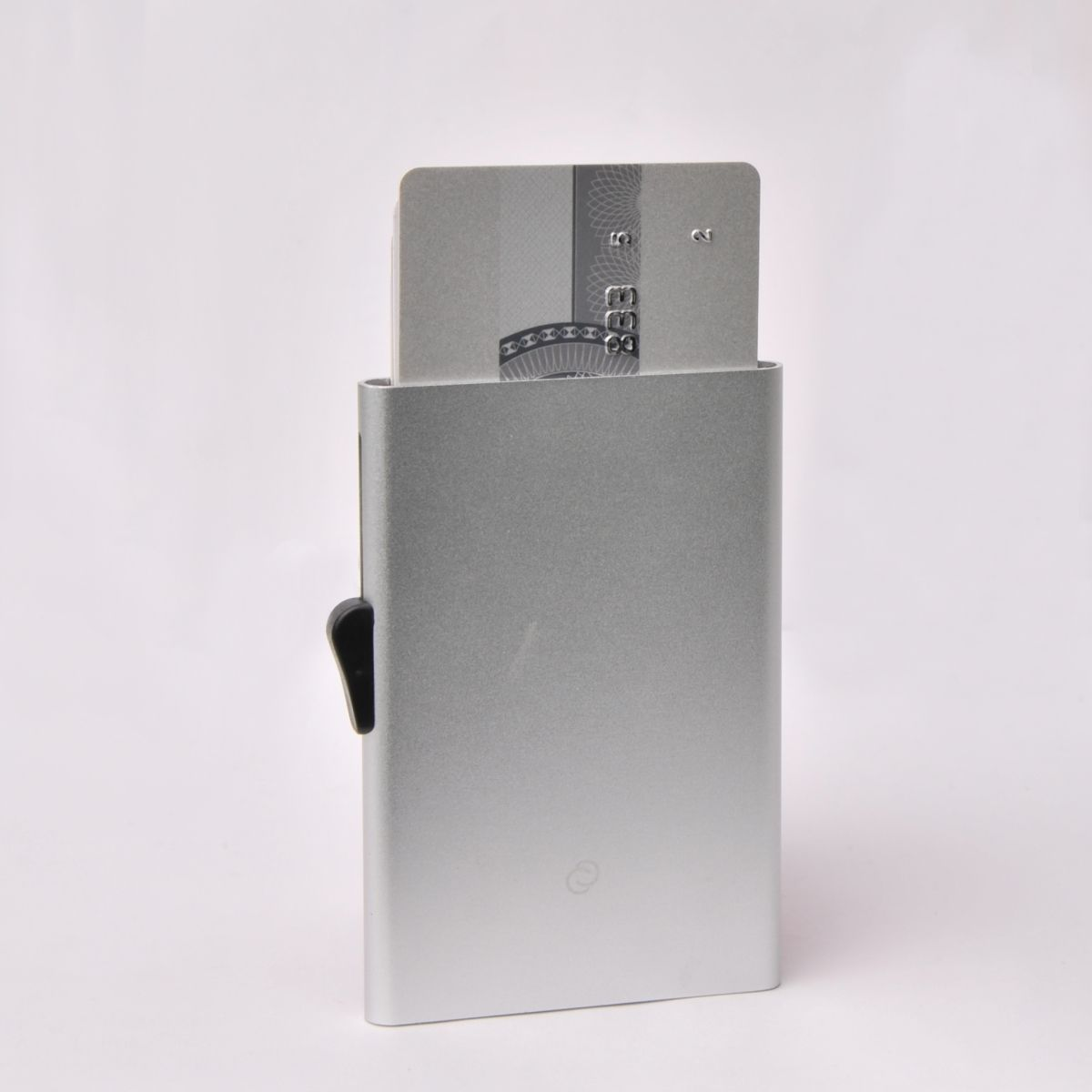 C-Secure Slim Aluminum Card Holder with Money Clip - Silver