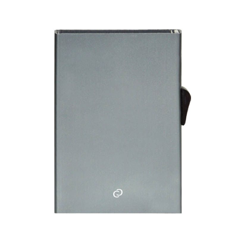 C-Secure Slim Aluminum Card Holder - Platinium