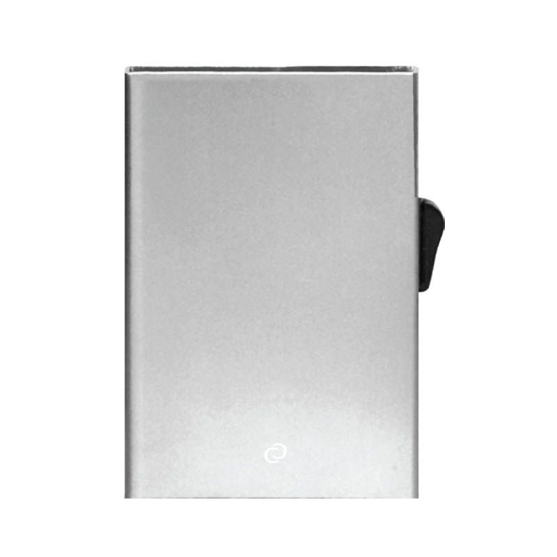 Slim Aluminum Card Holder - Silver