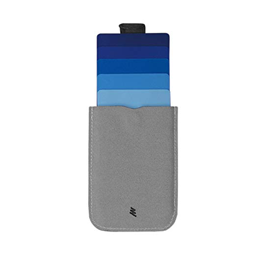 dax Cascading Pull Tab Wallet - Grey/Blue