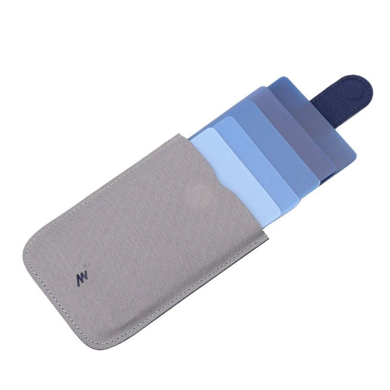 Cascading Pull Tab Wallet - Grey/Blue