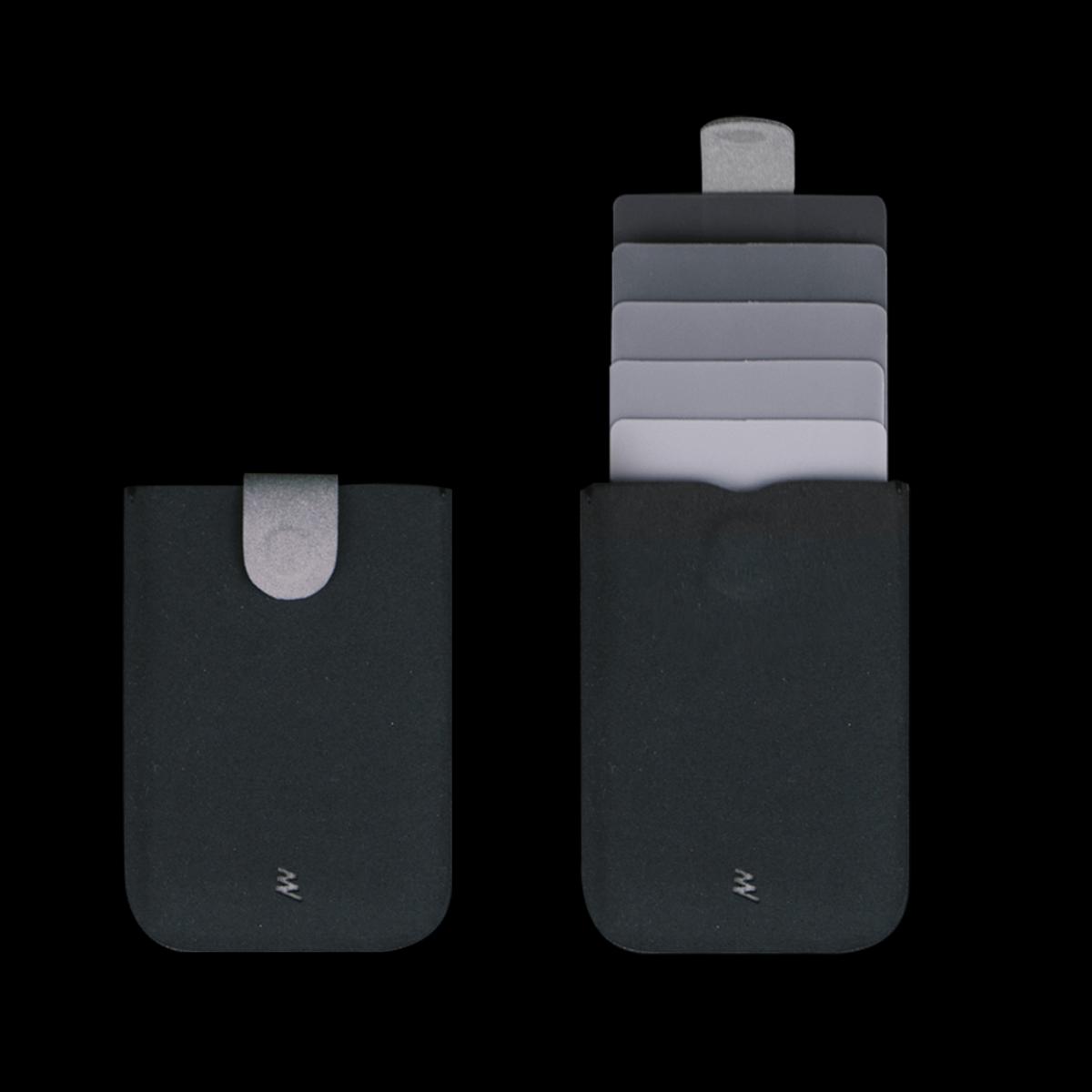 Cascading Pull Tab Wallet V2.0 - Black/Grey