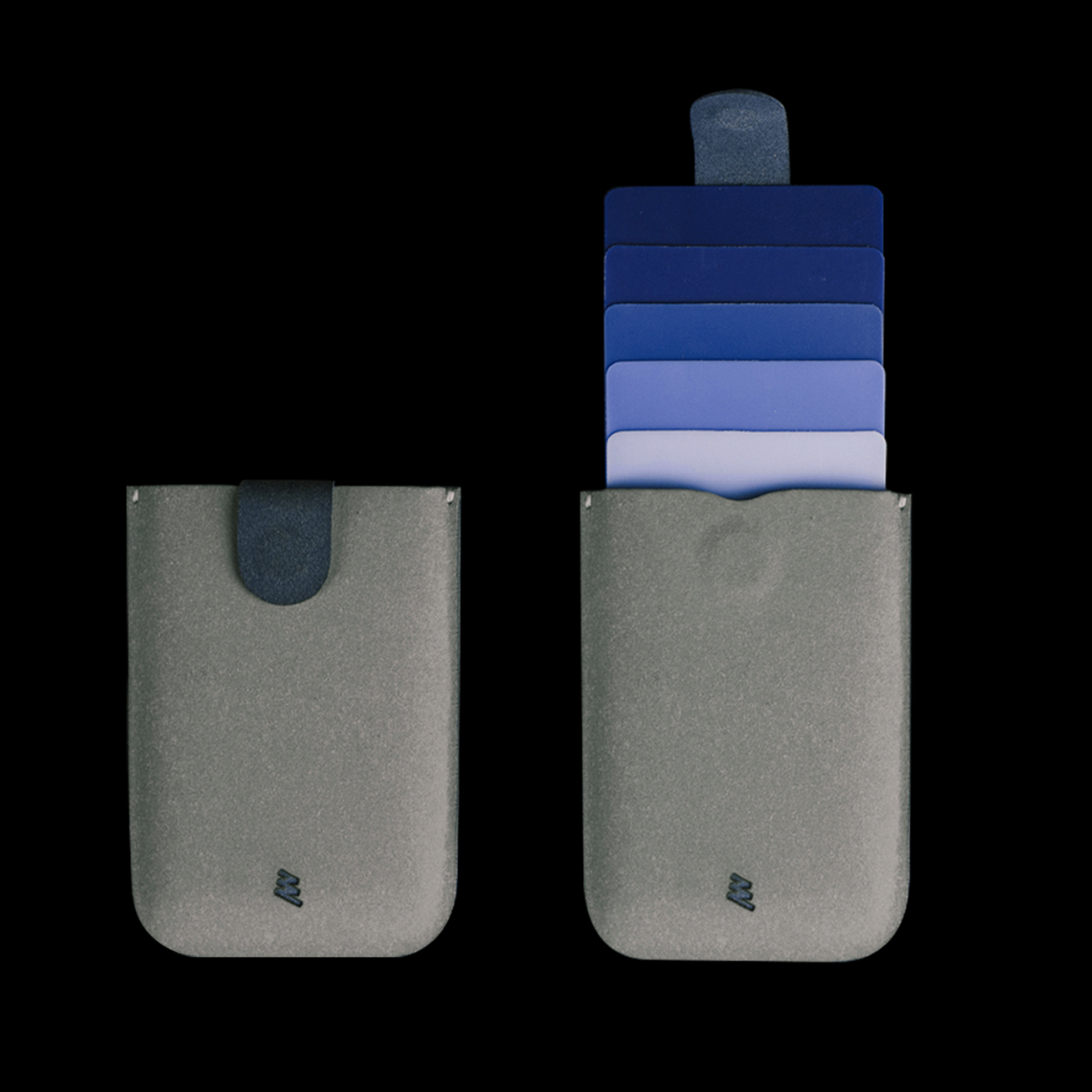dax ארנק משיכה מינימליסטי משודרג V2.0 - אפור \ כחול