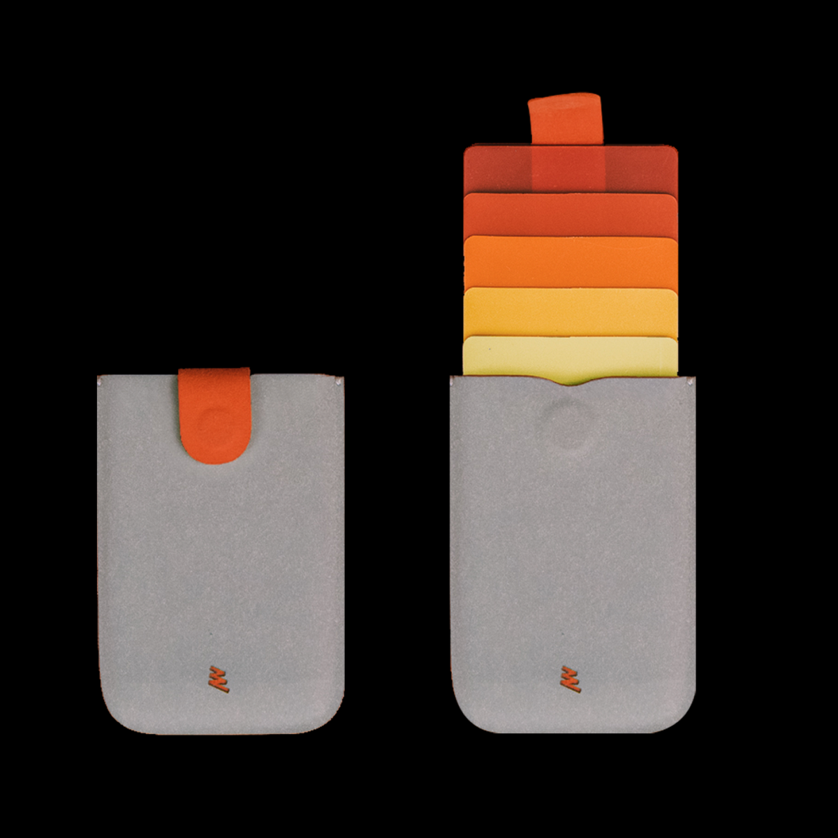dax ארנק משיכה מינימליסטי משודרג V2.0 - אפור