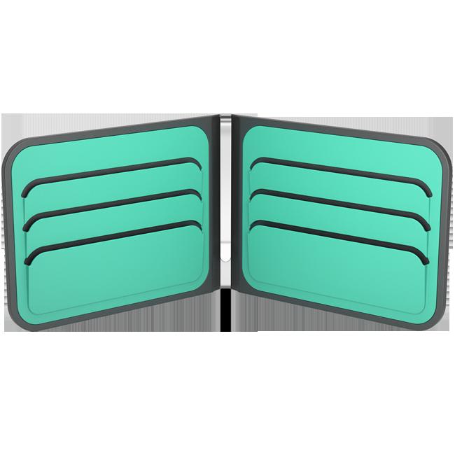 dosh ארנק dosh דגם AERO - אפור\טורקיז