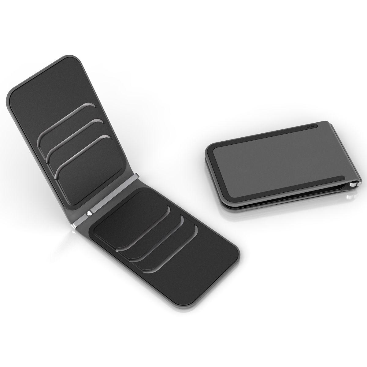 LUXE RFID - CLOONEY - Grey / Black