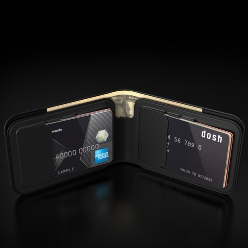 dosh street black wallets online