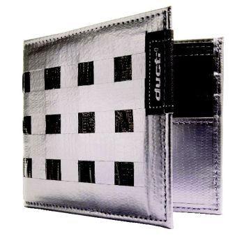 Ducti ארנק Duct Tape דגם Bi-Fold Hybrid - כסוף\שחור