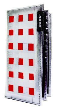 Ducti Duct Tape Checkbook Wallet - Silver/Red