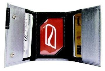 Ducti Duct Tape Tri-Fold Wallet - Silver/Red