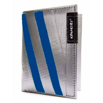 Ducti Duct Tape Tri-Fold Wallet - Silver/Blue