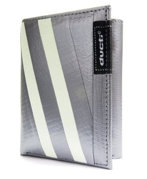 Ducti Duct Tape Tri-Fold Wallet - Silver/Glow