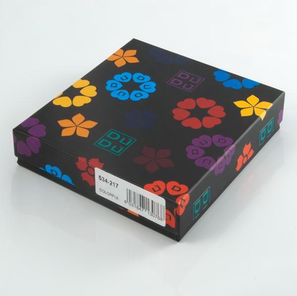 DuDu ארנק קומפקטי צבעוני לכרטיסי אשראי - שחור