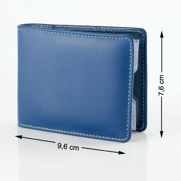 DuDu ארנק קומפקטי צבעוני לכרטיסי אשראי - כחול