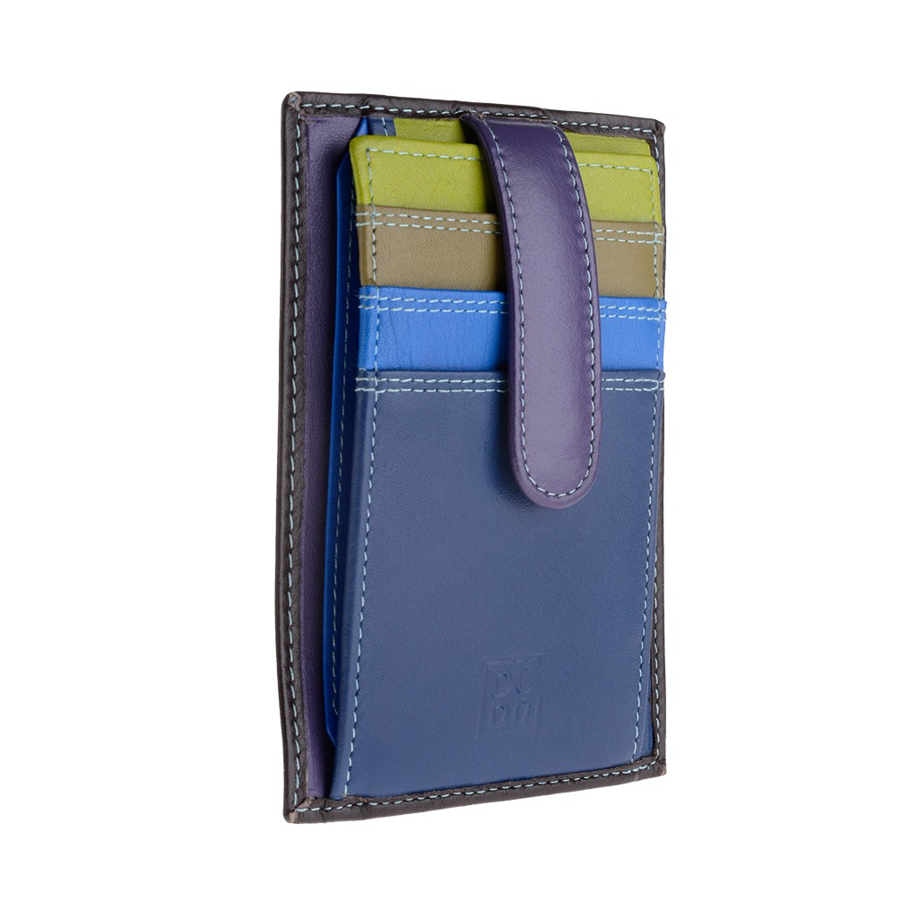 DuDu Compact multi color credit card holder wallet - Blue