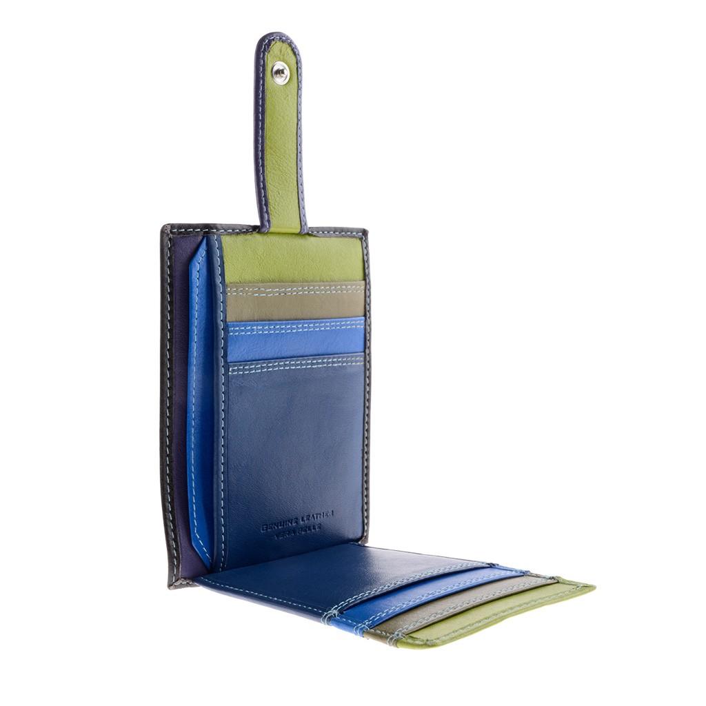 DuDu ארנק קומפקטי צבעוני לכרטיסים - כחול