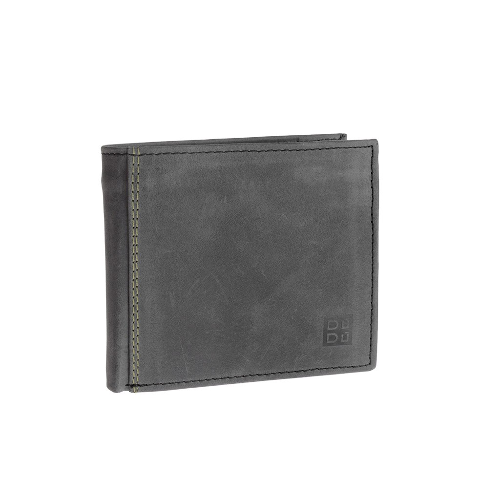 DuDu Mans vintage leather wallet - Black