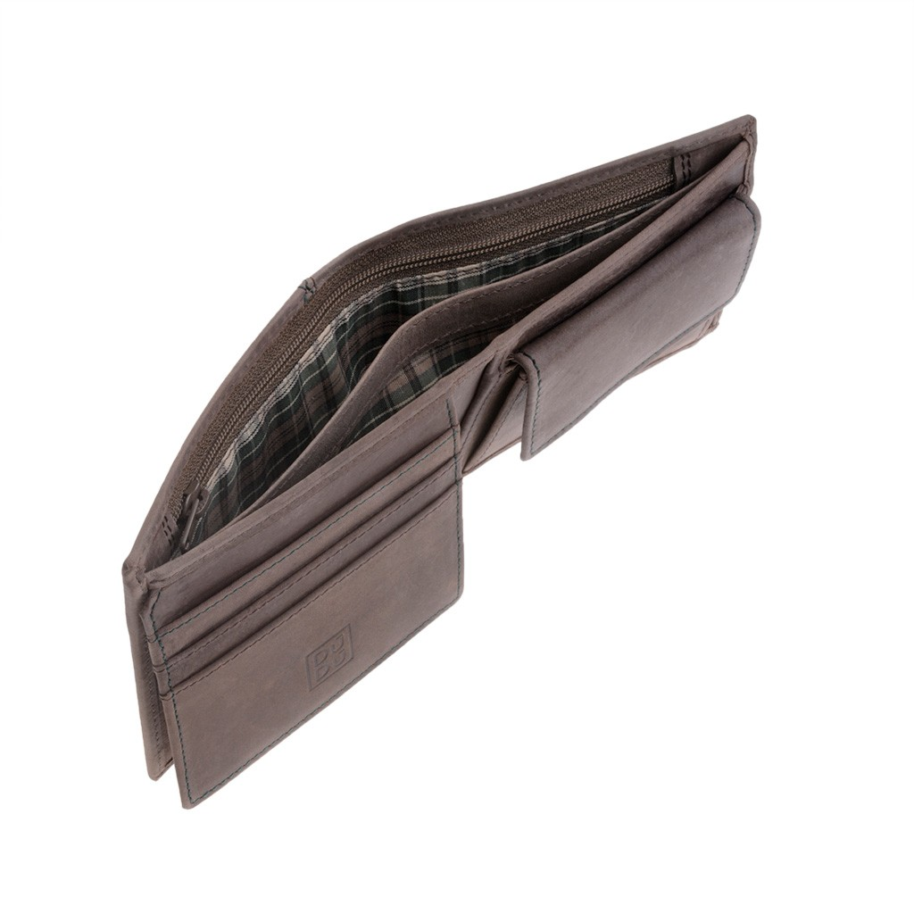 DuDu Mans vintage leather wallet - Cacao