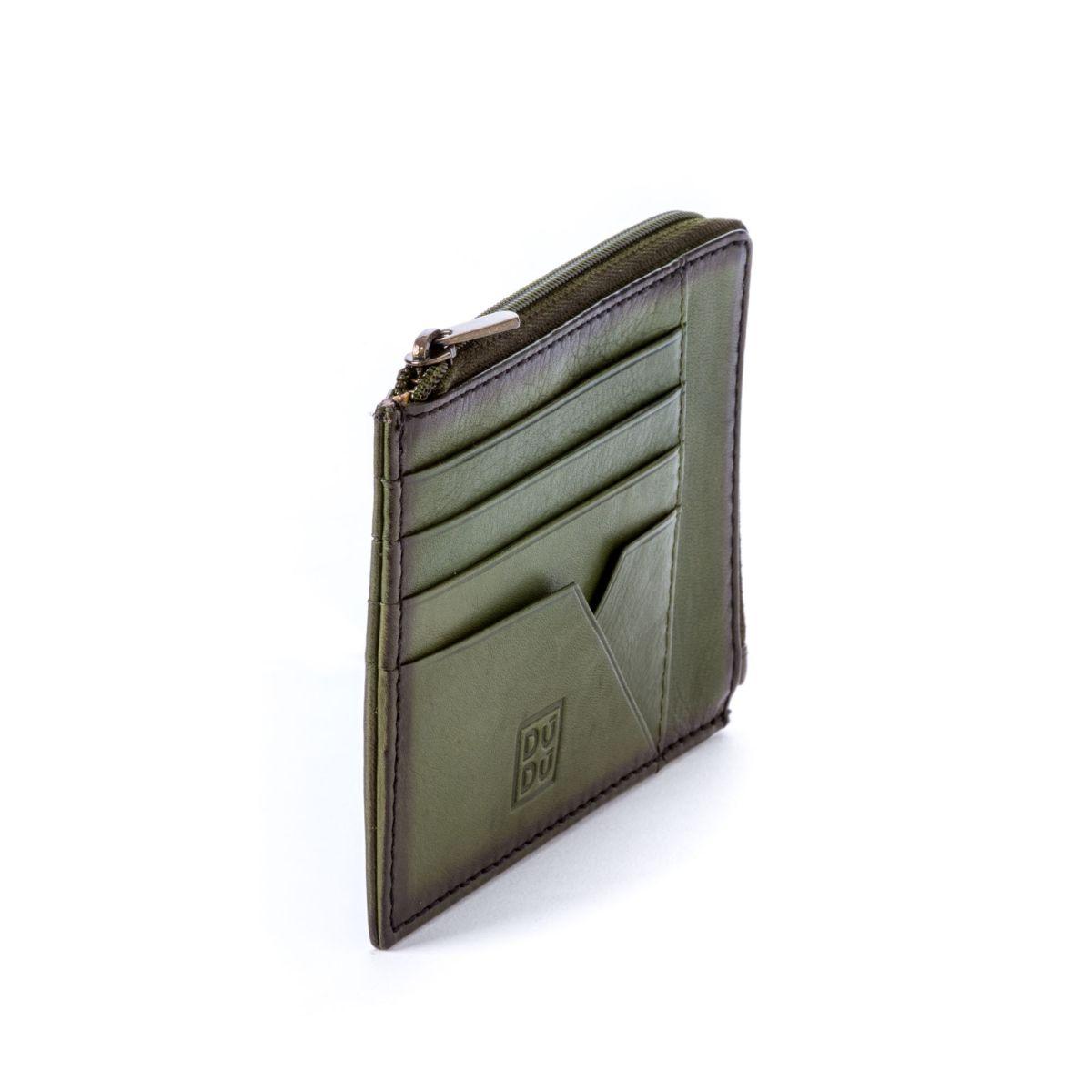 DuDu Flat Leather Wallet - Green