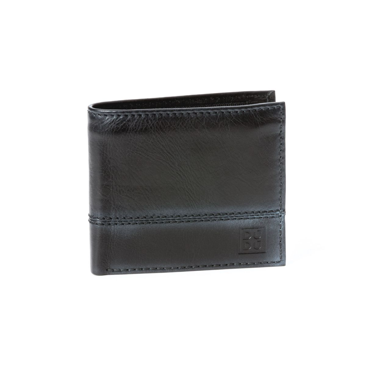 Unique Leather Wallet With Coin Purse - Black