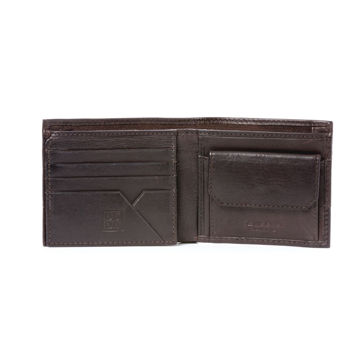 DuDu Unique Leather Wallet With Coin Purse - Black