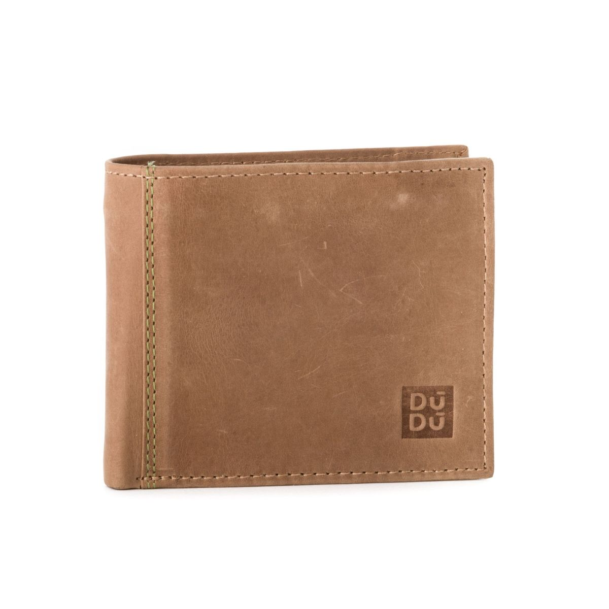 DuDu Mans vintage leather wallet - Tan