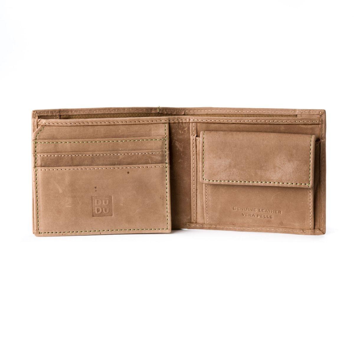 DuDu Mans vintage leather wallet - Tan