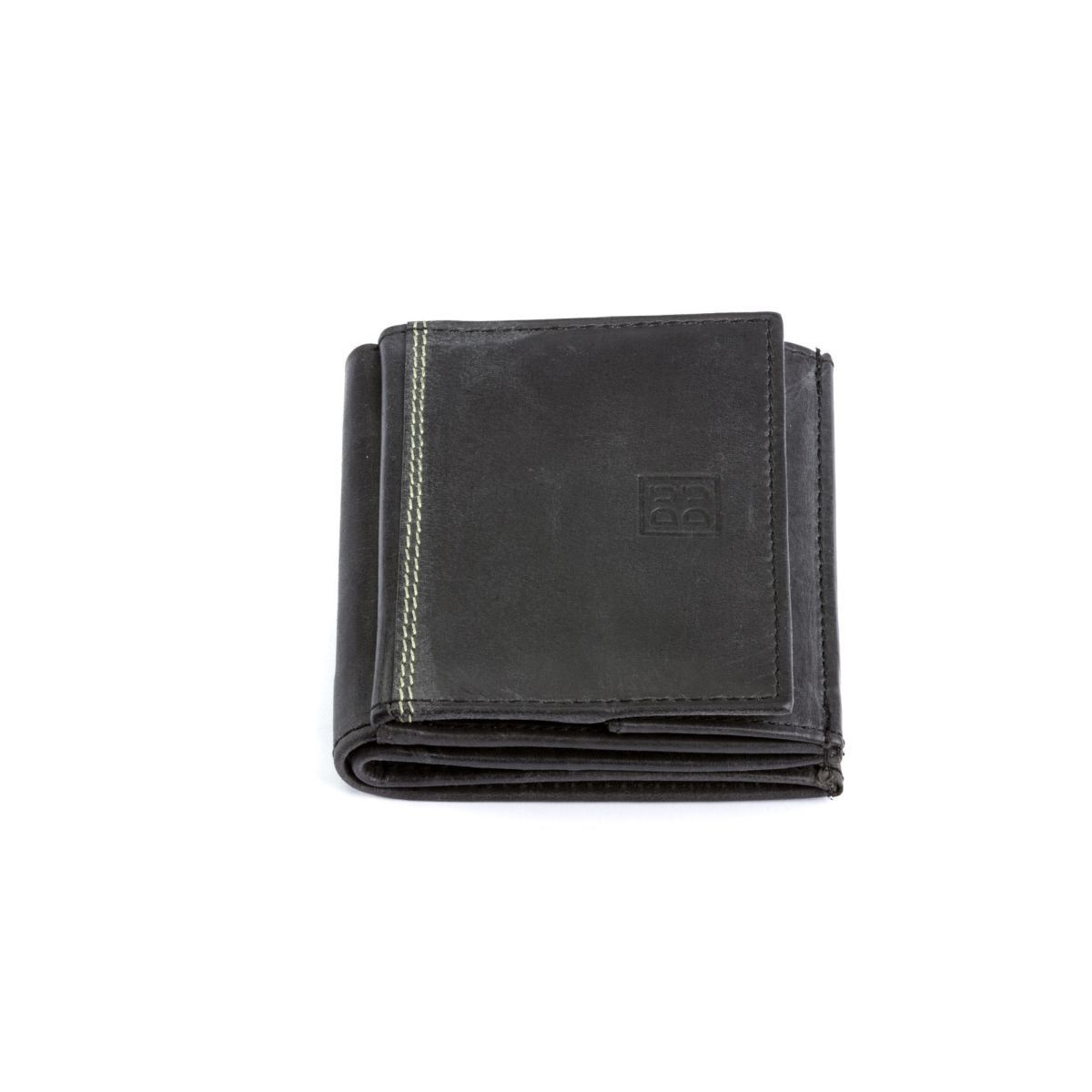 DuDu Small Unique Vintage Leather Wallet  - Black