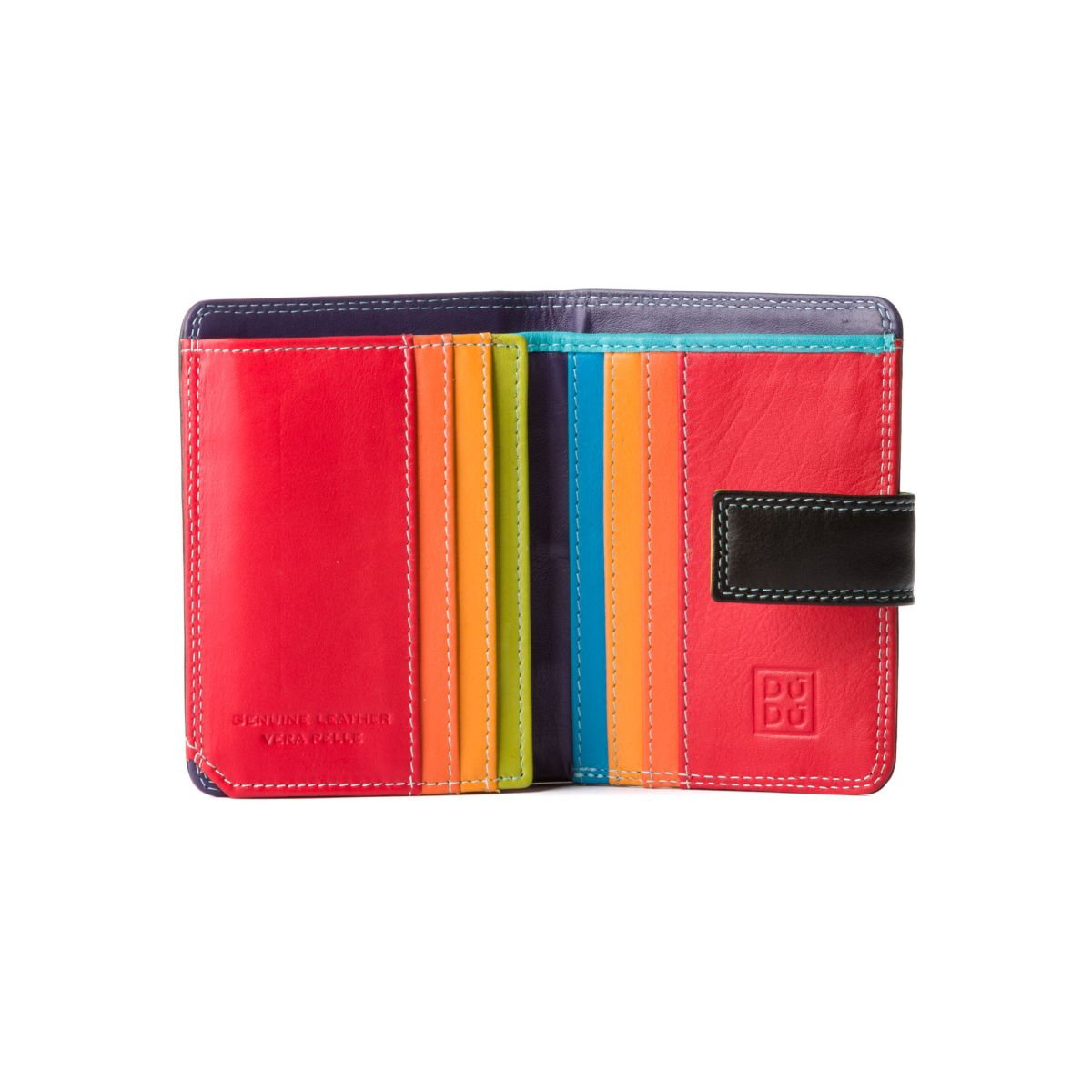 DuDu Small Womans Wallet Trifold Wallet - Black