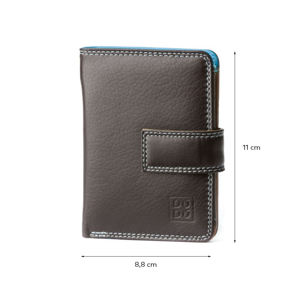 DuDu Small Womans Wallet Trifold Wallet - Dark Brown