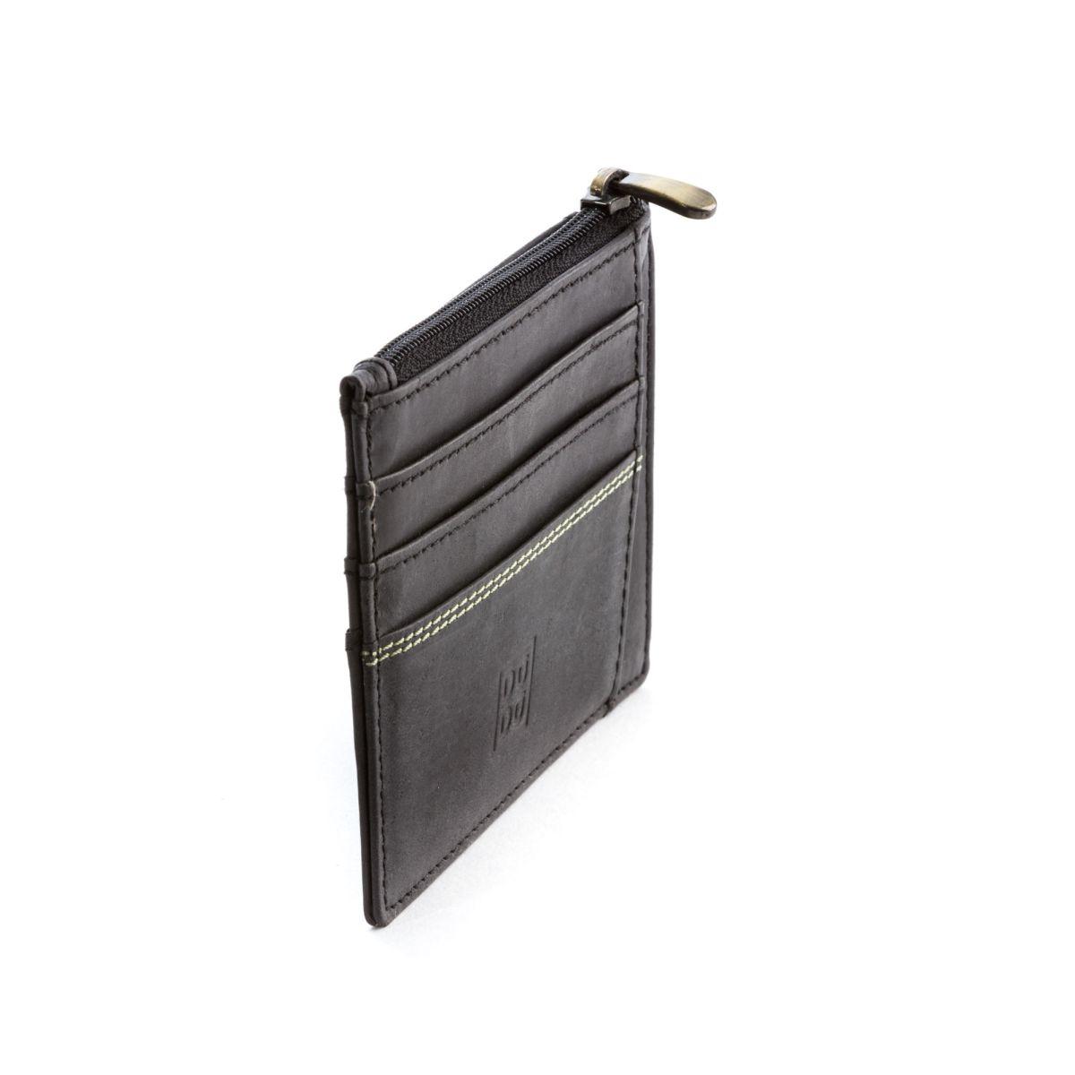 DuDu ארנק מינימלסטי עם תא למטבעות - שחור
