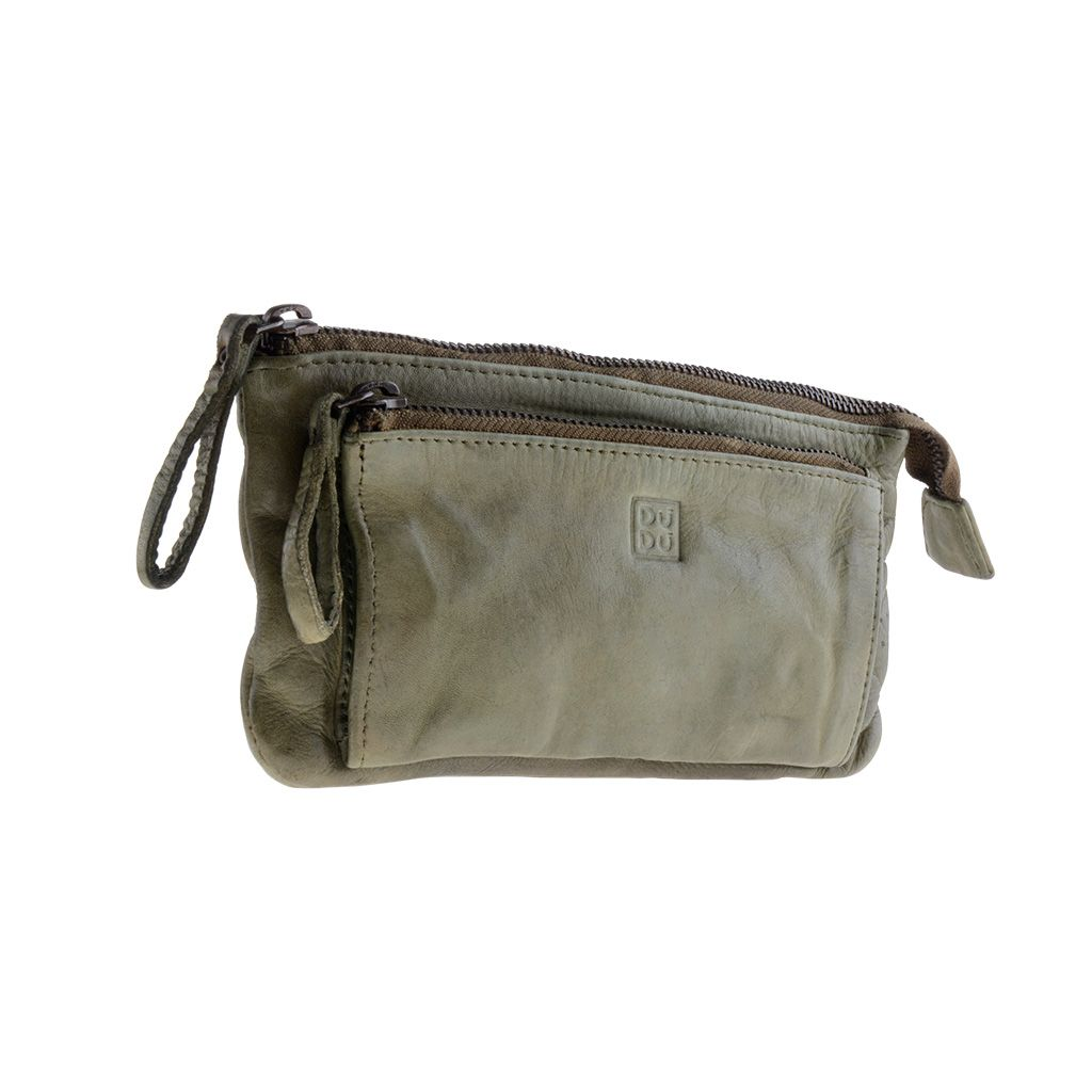 DuDu Woman's Hand-Made Soft Leather Purse - Green