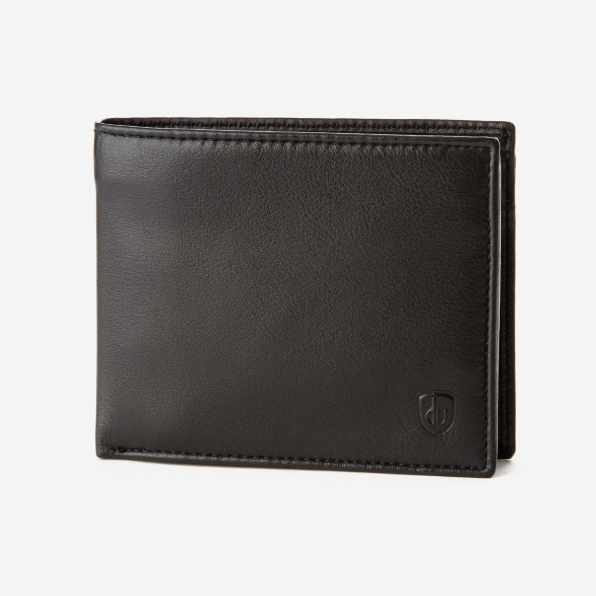 dv Classic Leather Wallet With Coin Pocket - Black