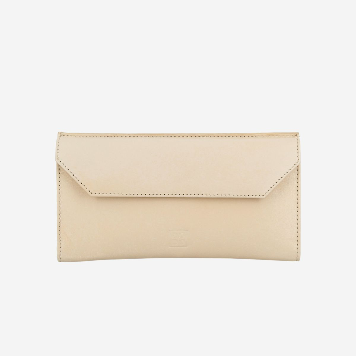 DuDu Ladies Envelope Leather Clutch Wallet Purse  - Ivory