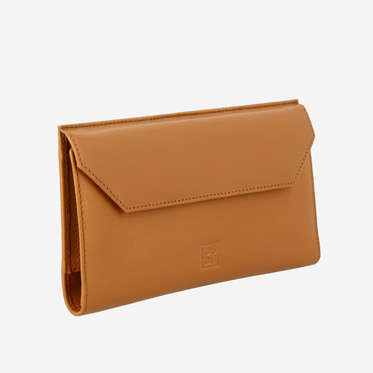 DuDu Ladies Envelope Leather Clutch Wallet Purse  - Buff