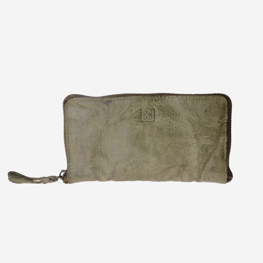 DuDu Woman's Hand-Made Soft Leather Wallet - Green