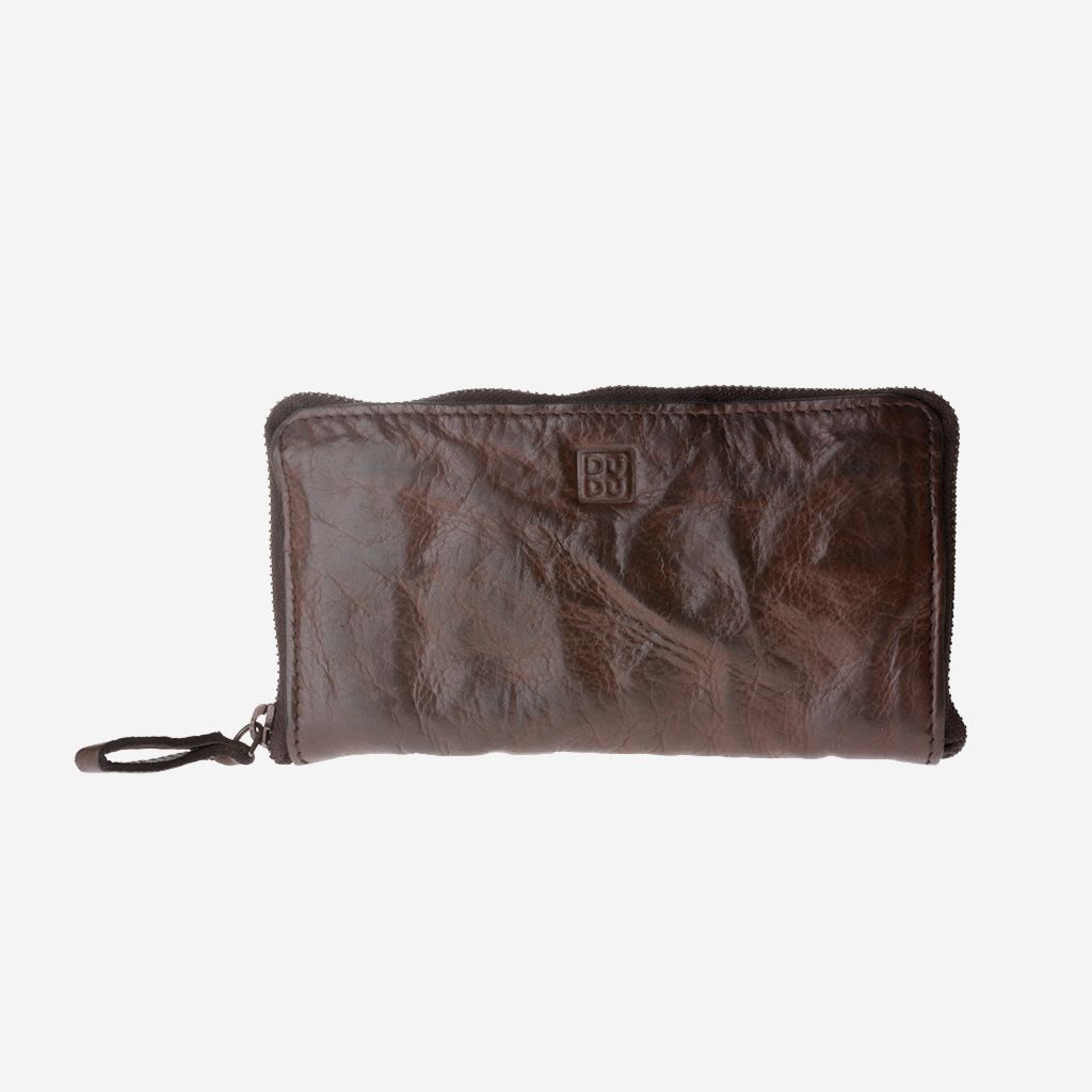DuDu Woman's Hand-Made Soft Leather Wallet - Cocoa Brown