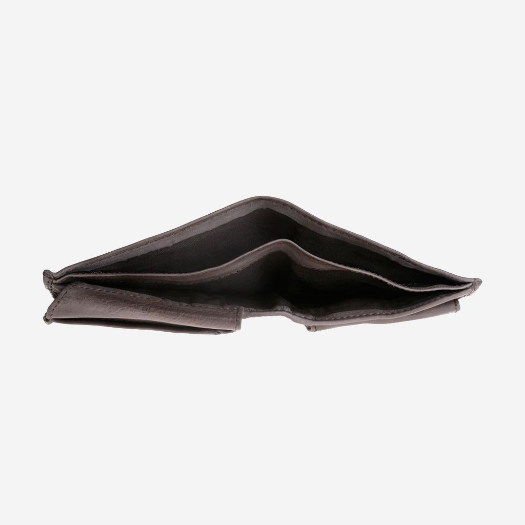 DuDu Mans hand-made soft natural high quality leather wallet - Grey