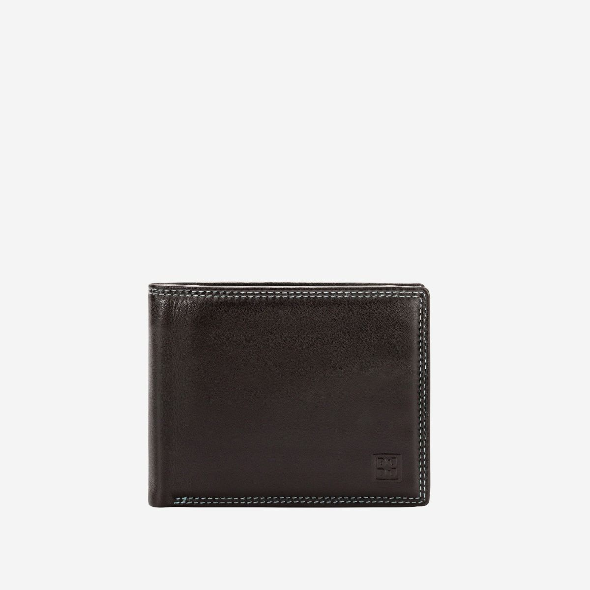 DuDu Slim Leather Multi Color Callet With Coin Purse - Dark Brown