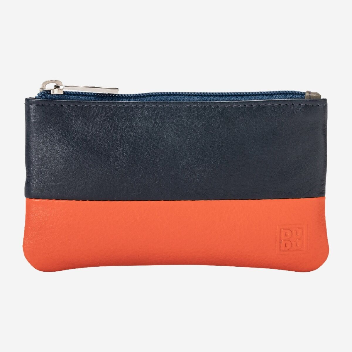 NUVOLA PELLE Leather Coin Purse - Blue/Red