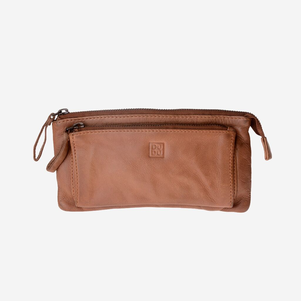 DuDu Woman's Hand-Made Soft Leather Purse - Nut Brown