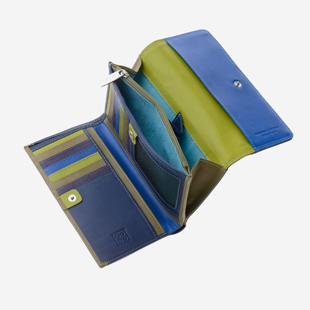 DuDu Colorful Leather Wallet For Women - Woods