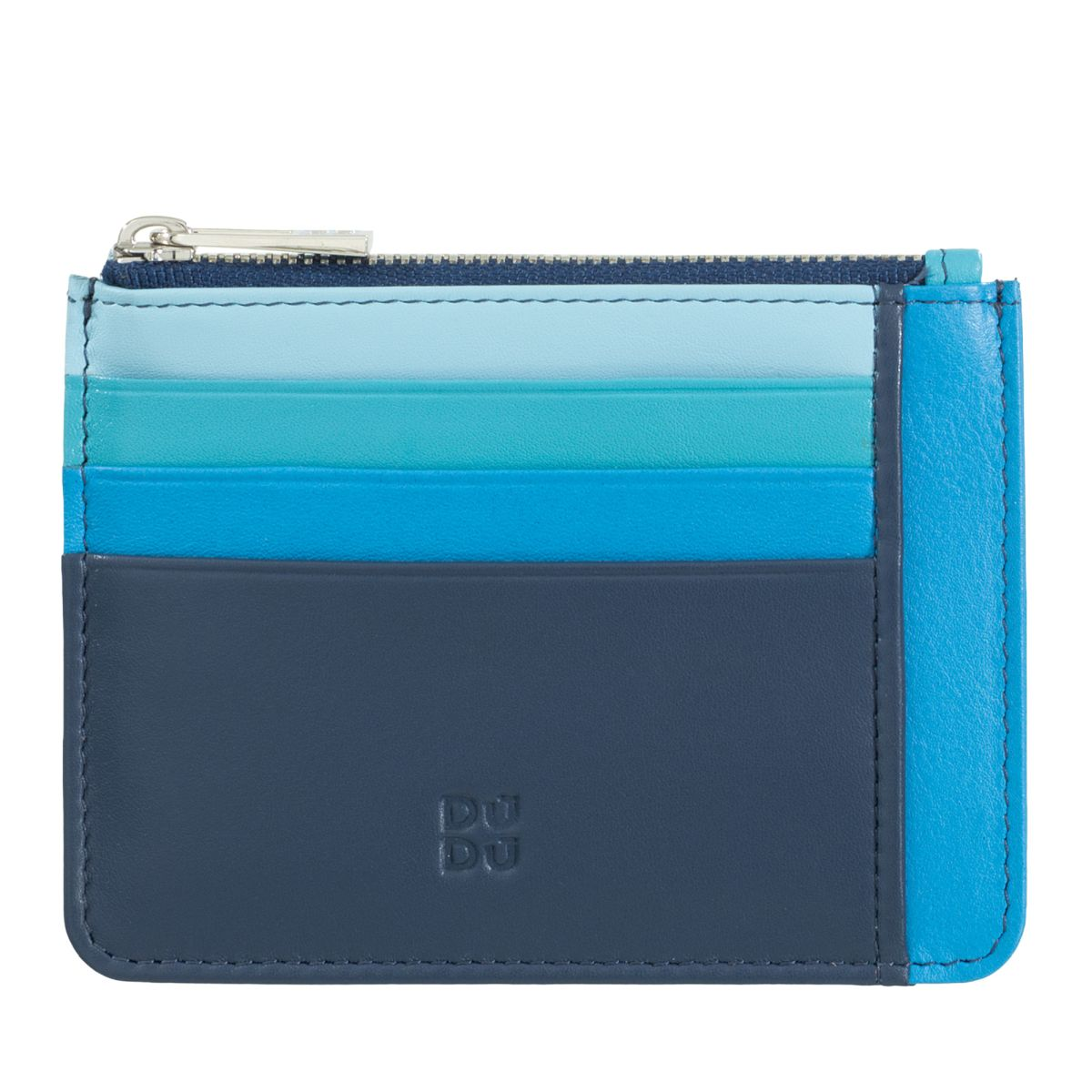 DuDu ארנק מינימלסטי עם תא למטבעות - כחול