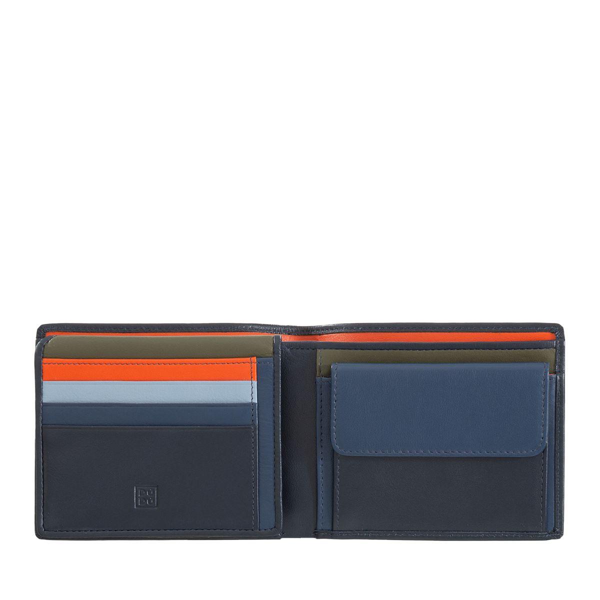 DuDu ארנק עור קלאסי עם תא למטבעות - כחול נייבי