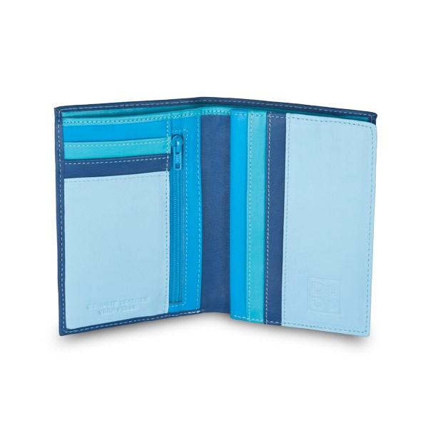 DuDu ארנק קומפקטי עם תא למטבעות - כחול