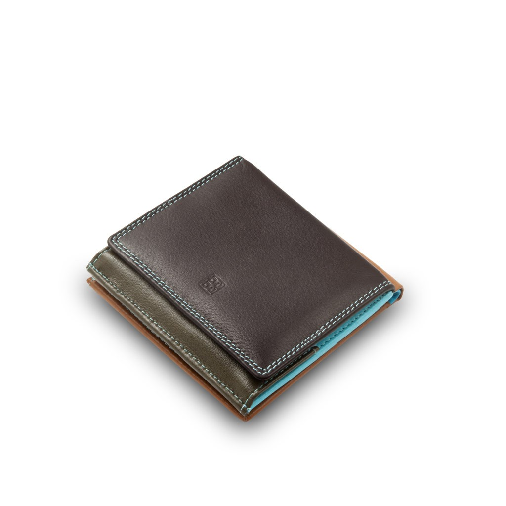 DuDu Small mans elegant wallet  - Dark Brown
