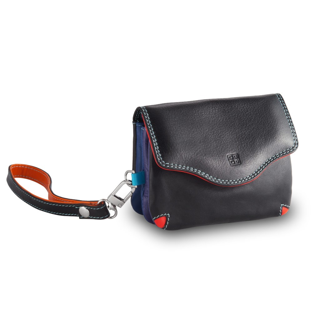 Small multi color handbag - Black
