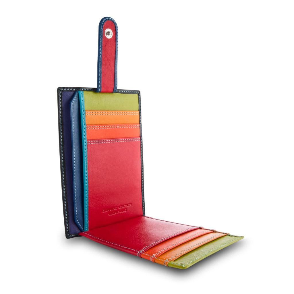 Compact multi color credit card holder wallet - Black